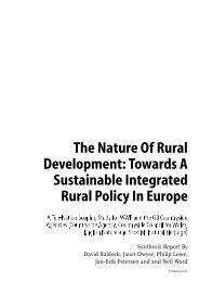 The Nature of Rural Development: Towards a sustainable ... - WWF UK
