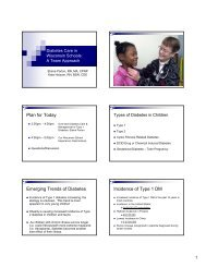 Diabetes Care in Wisconsin Schools: A Team Approach - Medical ...