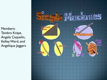 Simple Machines - Faculty Web Pages