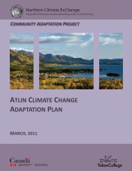 Atlin Climate Change Adaptation Plan - Yukon College