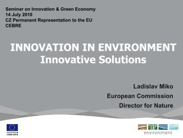 INNOVATION IN ENVIRONMENT Innovative Solutions - CEBRE