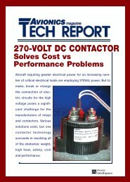 270-VOLT DC CONTACTOR Solves Cost vs ... - Aviation Today