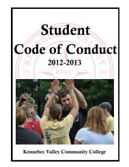 Student Code of Conduct - Kennebec Valley Community College