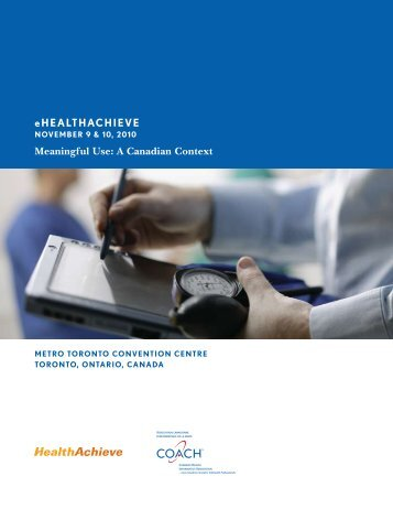 eHEALTHACHIEVE Meaningful Use: A Canadian Context