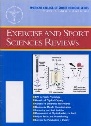 EXERCISE AND SPORT - University of Minnesota