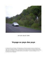 Voyage au pays des puys - Notre 350Z