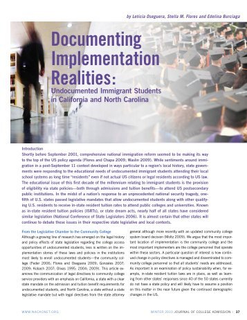 (2010). Documenting Implementation Realities - William Perez, Ph.D.