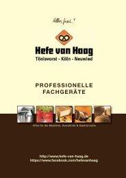 Metall-Backformen Metal baking moulds - Hefe van Haag GmbH & Co