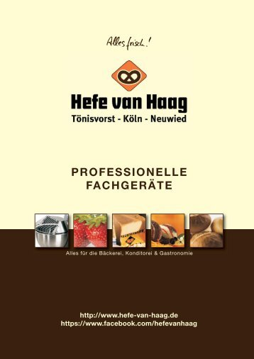 Metall-Backformen Metal baking moulds - Hefe van Haag GmbH & Co