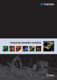 CATALOGUE MACHINE CONTROLE - Topcon Positioning