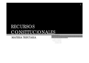 RECURSOS CONSTITUCIONALES - Colegio de Abogados de Lima