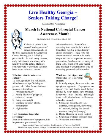 Live Healthy Georgia – Seniors Taking Charge! - Live Well Age Well
