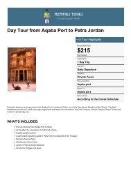Day Tour from Aqaba Port to Petra Jordan - Memphis Tours Egypt