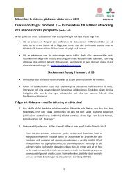 Diskussionsfrågor moment 1 – Introduktion till Hållbar utveckling och ...