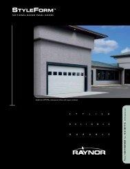 Download StyleForm Brochure PDF file - Raynor Garage Doors