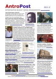 AntroPost 2-2011 / 11.02.11 - Antroposofisk Selskap i Norge