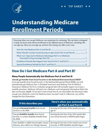 Enrollment Periods - Alaska Department of Health and Social Services