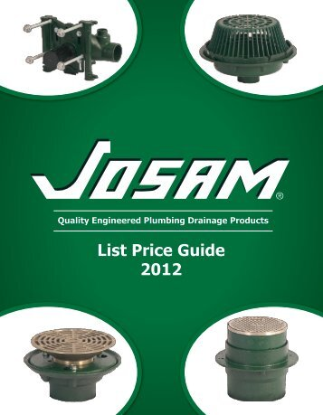 List Price Guide 2012 - Josam