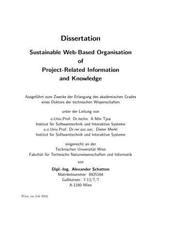 PhD Thesis - Alexander Schatten
