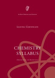 CHEMISTRY SYLLABUS - Department of Education and Skills