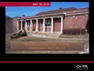 waddell elementary school community meeting #2 - Lexington City ...
