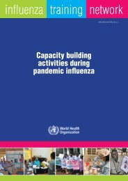 Capacity building activities during pandemic influenza
