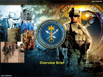 Overview Brief - AFCEA Belvoir