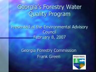 Georgia Forestry Water Quality Program - Georgia Department of ...