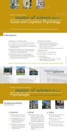 master of science(M.Sc.) - Sowi - Universität Mannheim