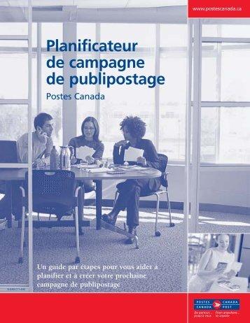 Planificateur de campagne de publipostage - Canada Post