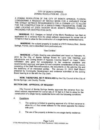 Ac 11 073 Zoning Verification Letters City Of Bonita Springs