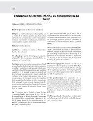 programa de especialización en promoción de la salud - Hacia la ...