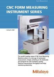 CNC FORM MEASURING INSTRUMENT SERIES - Mitutoyo ...