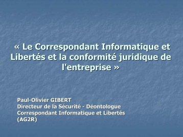 Le Correspondant Informatique et Libertés et la conformité ... - L'Afcdp
