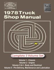 DEMO - 1978 Ford Truck Shop Manual - ForelPublishing.com
