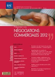 NégociatioNs commerciales 2012 - Editions - Efe
