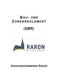 BAU- UND ZONENREGLEMENT - Gemeinde Raron