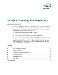 Intel(R) Threading Building Blocks