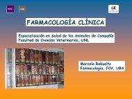 Farmacología clínica - Facultad de Ciencias Veterinarias