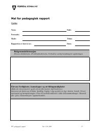 Mal for pedagogisk rapport