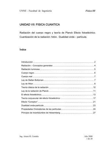 UNIDAD VII: FISICA CUANTICA - unne