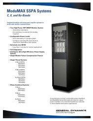 ModuMAX SSPA Systems - General Dynamics SATCOM Technologies