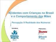 Acidentes com Crianças no Brasil e o ... - Criança Segura