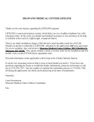 SHAWANO MEDICAL CENTER LIFELINE - ThedaCare