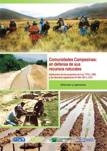 Comunidades Campesinas: en defensa de sus recursos ... - Cepes