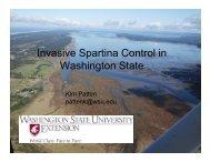 I i S ti C t l i Invasive Spartina Control in ... - WSU Long Beach