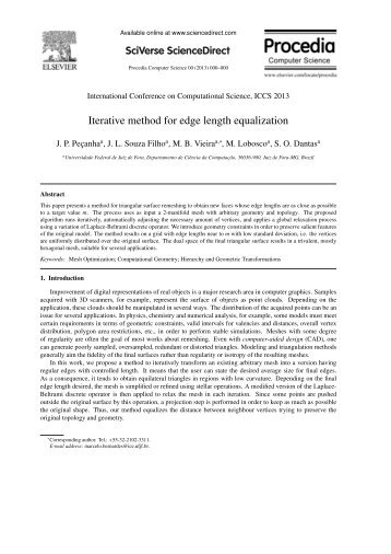 Iterative method for edge length equalization - GCG - UFJF