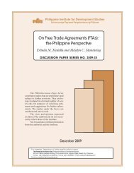 On Free Trade Agreements (FTAs): the Philippine Perspective