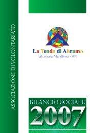 Bilancio sociale 2007 - Tenda di Abramo