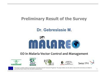 Preliminary results of the end-user survey - Malareo